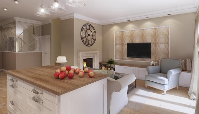 Zobacz Galerię Zdjęć Salon Z Kuchnią W Domu Jednorodzinnym