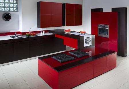 Meble kuchenne czerwone