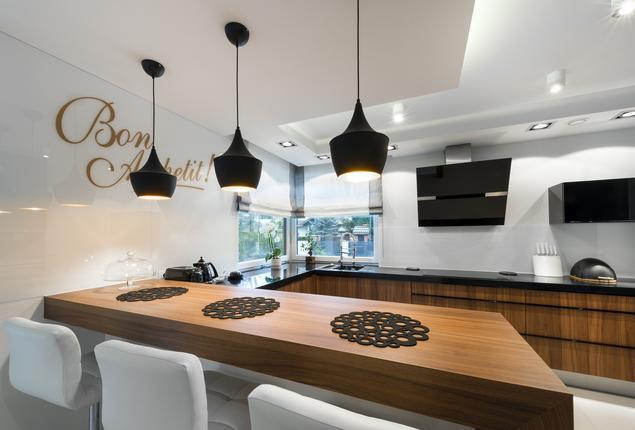 Zobacz galerię zdjęć Biało czarna kuchnia i drewniane meble kuchenne  Strony   -> Kuchnia Bialo Czarno Drewniana