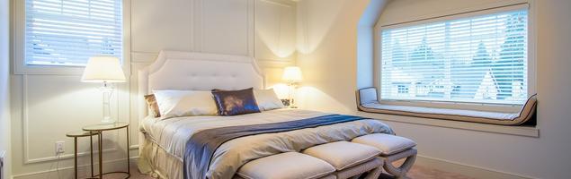 Pomysł na wnętrze - biała sypialnia