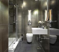 Pomysł na łazienkę w szarym kolorze