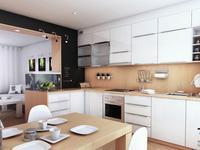 Pomysł na kuchnię połączoną z salonem i jadalnią. Nowoczesna i minimalistyczna strefa dzienna