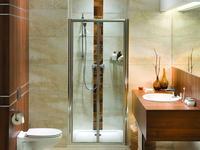 Aranżacja łazienki w stylu eco - naturalnym.