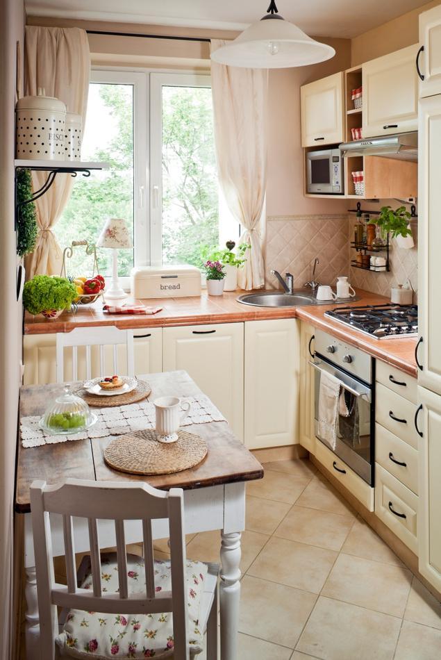 Zobacz galerię zdjęć Jasne meble kuchenne Mała kuchnia   -> Mala Kuchnia W U